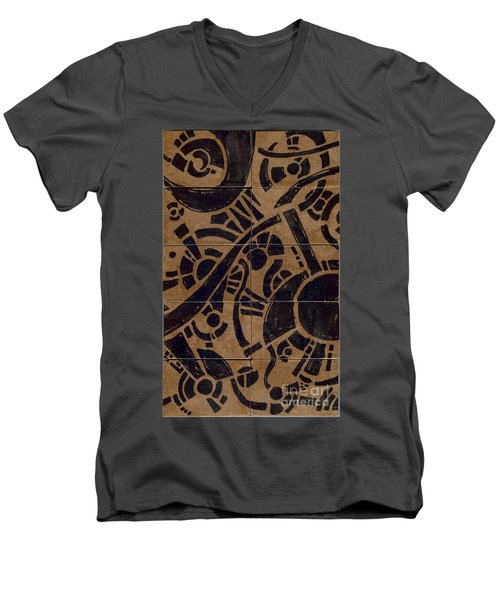 Flipside 1 Panel B Men's V-Neck T-Shirt