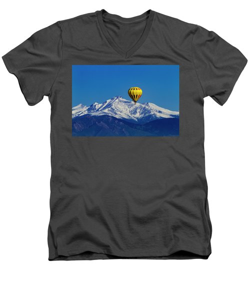 Floating Above The Mountains Men's V-Neck T-Shirt by Teri Virbickis
