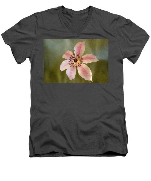 Floating Clematis Blossom Men's V-Neck T-Shirt