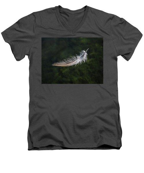 Floating Feather Men's V-Neck T-Shirt