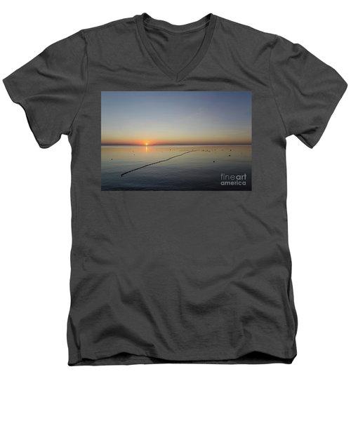 Men's V-Neck T-Shirt featuring the photograph Floating Fishnet by Kennerth and Birgitta Kullman