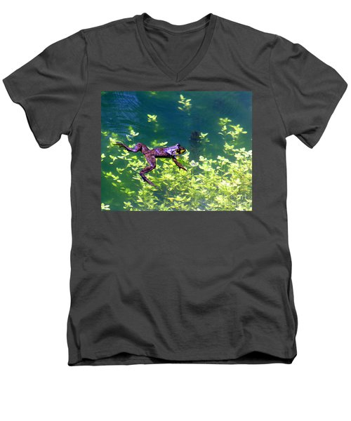 Floating Frog Men's V-Neck T-Shirt