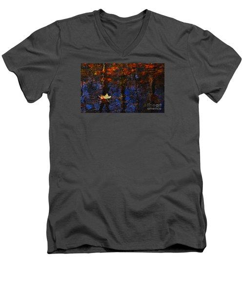 Floating In Fall Men's V-Neck T-Shirt