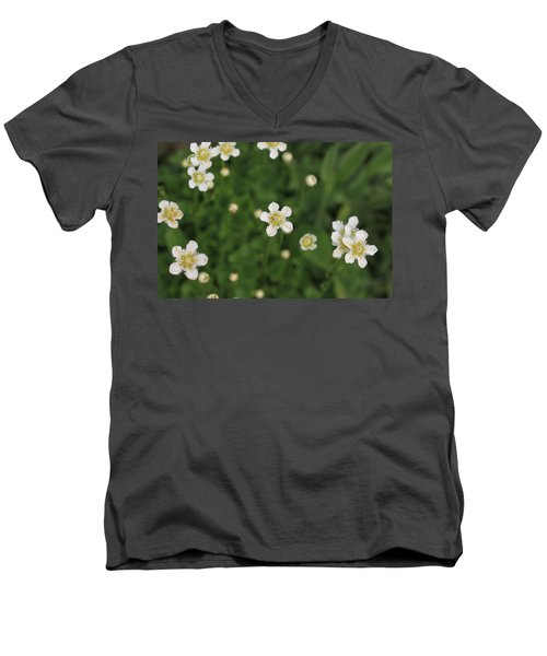 Men's V-Neck T-Shirt featuring the photograph Floating In Green by Shari Jardina