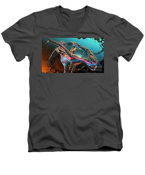 Floating In The Universe Men's V-Neck T-Shirt by Ian Gledhill