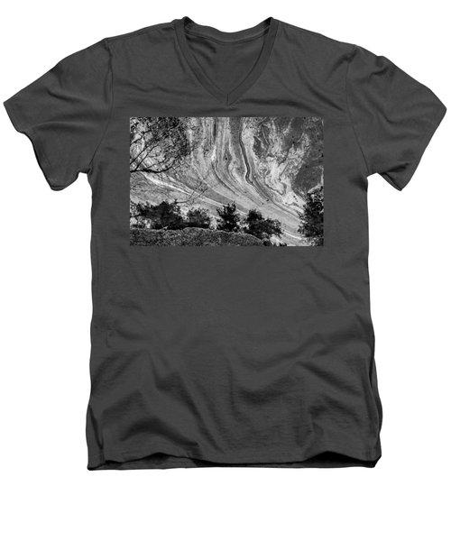 Floating Oil Spill On Water Men's V-Neck T-Shirt