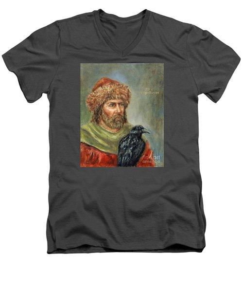 Floki Vilgerdarson Men's V-Neck T-Shirt by Arturas Slapsys