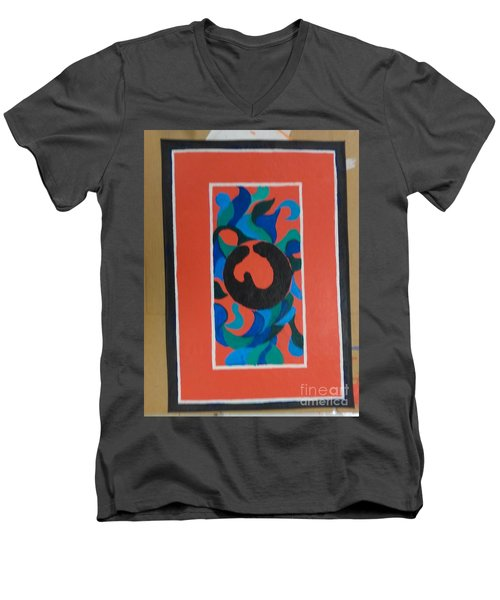 Floor Cloth E - Sold Men's V-Neck T-Shirt by Judith Espinoza