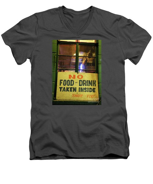 Men's V-Neck T-Shirt featuring the photograph Floores Country Store And Dance Hall by Joe Jake Pratt