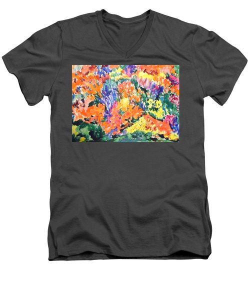 Flora Ablaze Men's V-Neck T-Shirt