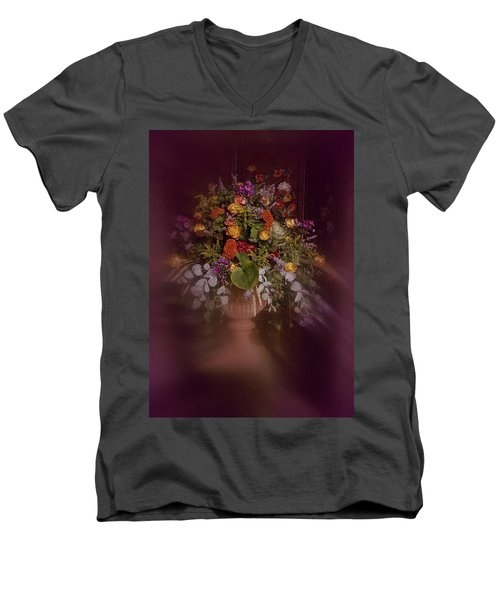 Floral Arrangement No. 2 Men's V-Neck T-Shirt by Richard Cummings