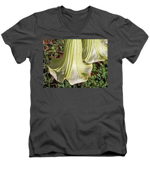 Men's V-Neck T-Shirt featuring the photograph Floral Ballgown by Betty Northcutt