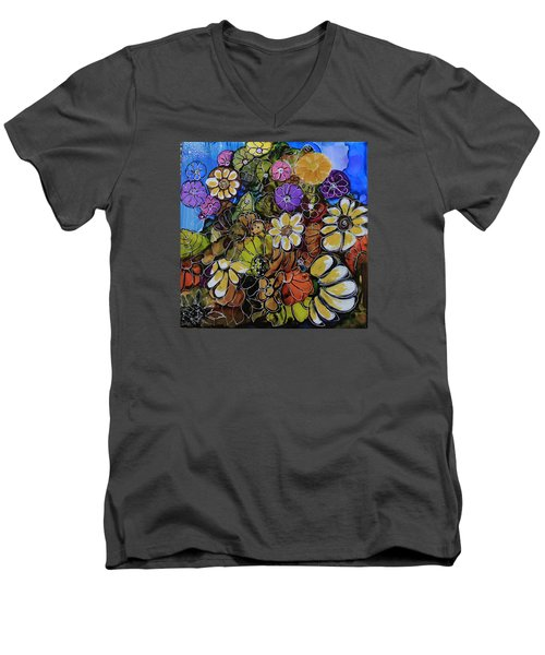 Floral Boquet Men's V-Neck T-Shirt