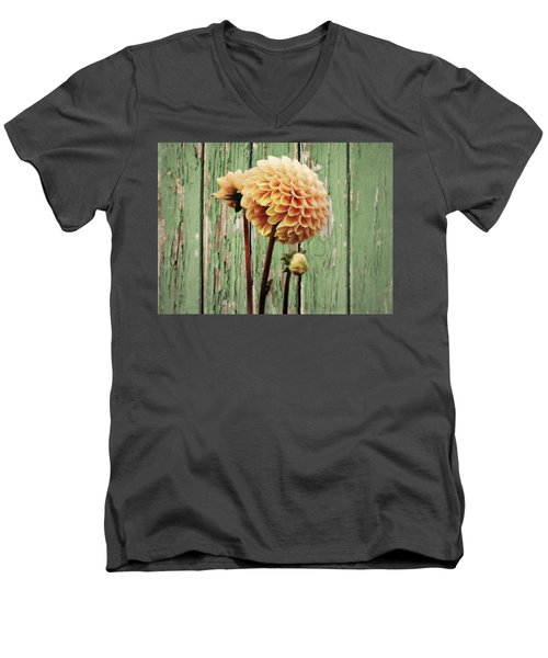 Floral Delight Men's V-Neck T-Shirt
