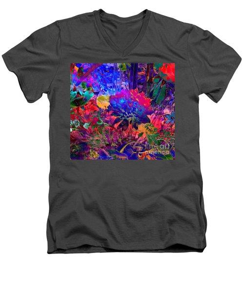 Floral Dream Of Summer Men's V-Neck T-Shirt