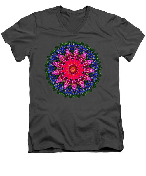 Floral Kaleidoscope By Kaye Menner Men's V-Neck T-Shirt