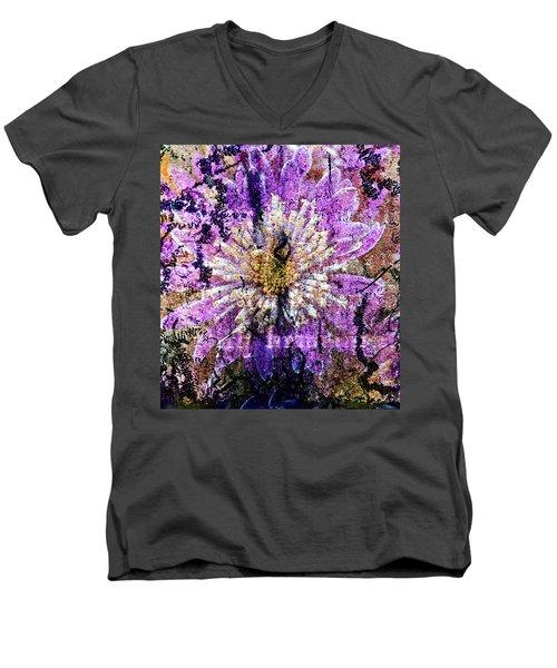 Floral Poetry Of Time Men's V-Neck T-Shirt