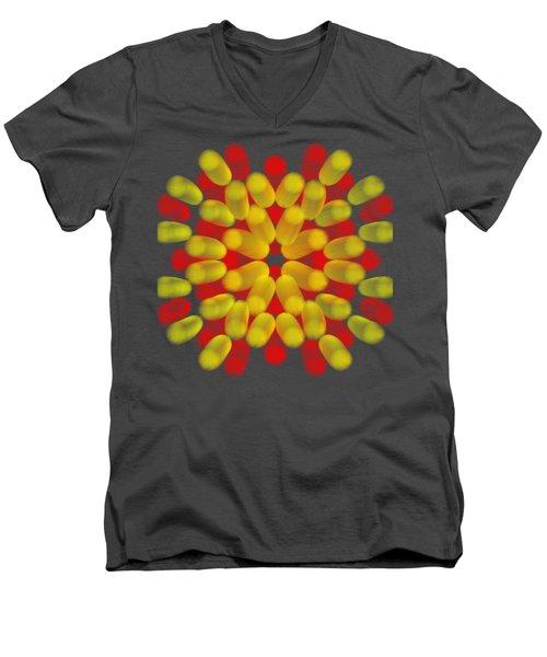 Floral Men's V-Neck T-Shirt