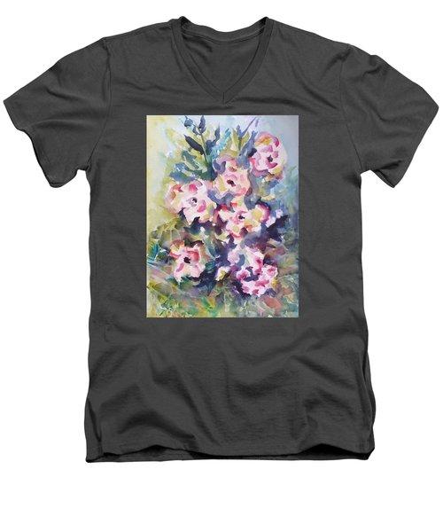 Floral Rhythm Men's V-Neck T-Shirt