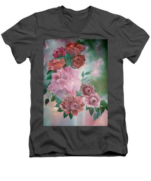 Floral Splendor Men's V-Neck T-Shirt