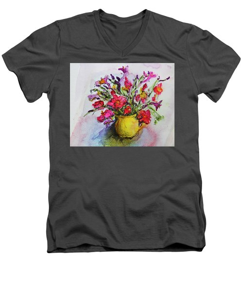 Floral Still Life 05 Men's V-Neck T-Shirt by Linde Townsend