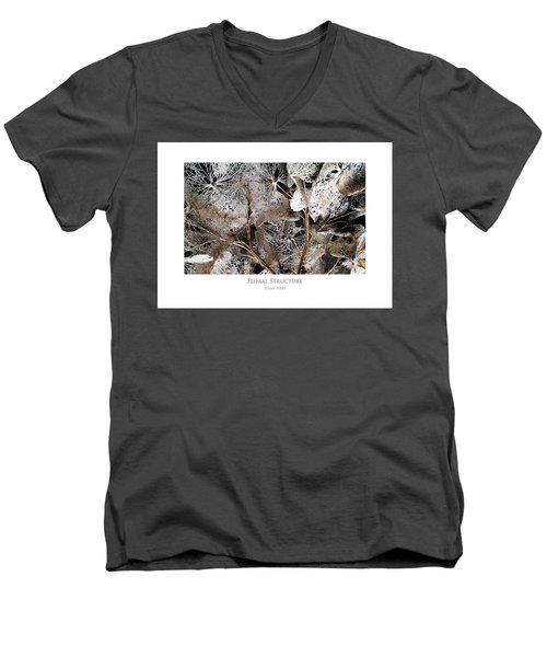 Floral Structure Men's V-Neck T-Shirt