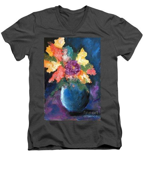 Floral Study 1 Men's V-Neck T-Shirt