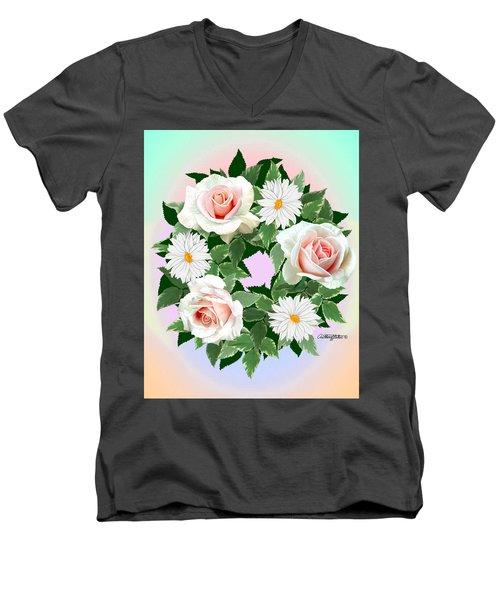 Floral Wreath Men's V-Neck T-Shirt