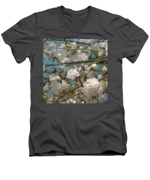 Floral01 Men's V-Neck T-Shirt