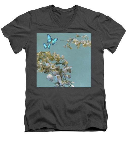 Floral04 Men's V-Neck T-Shirt