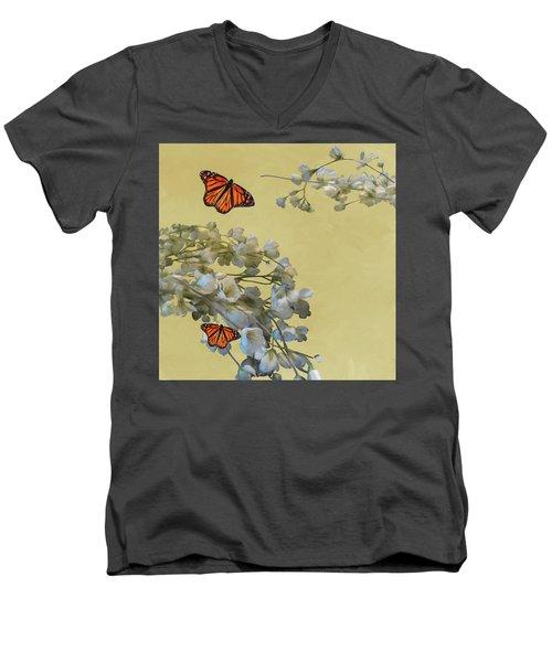 Floral05 Men's V-Neck T-Shirt