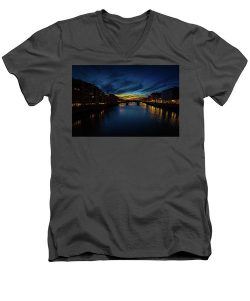 Florence At Sunset Men's V-Neck T-Shirt