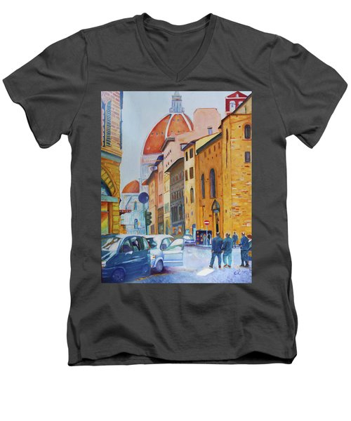 Florence Going To The Duomo Men's V-Neck T-Shirt