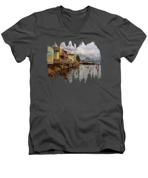 Scene On The Siuslaw  Men's V-Neck T-Shirt