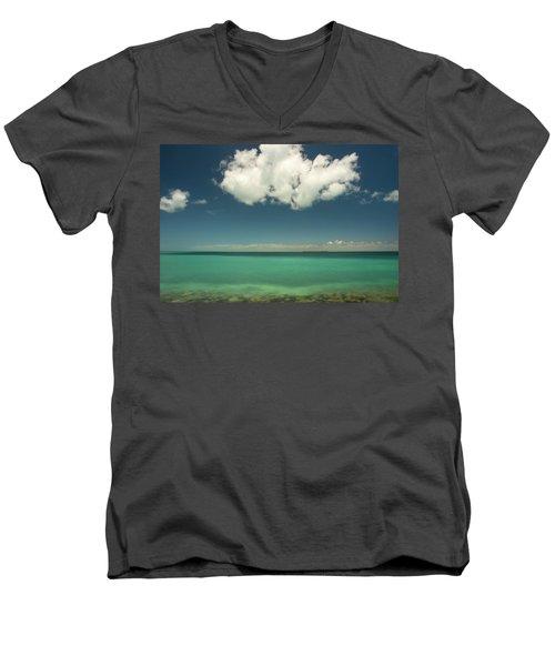 Florida Bay Men's V-Neck T-Shirt by Dana Sohr
