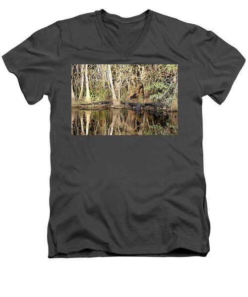 Florida Gators - Everglades Swamp Men's V-Neck T-Shirt by Jerry Battle