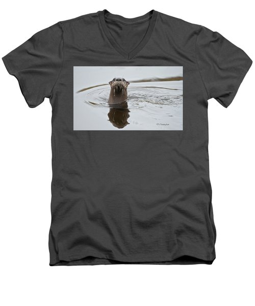 Florida Otter Men's V-Neck T-Shirt