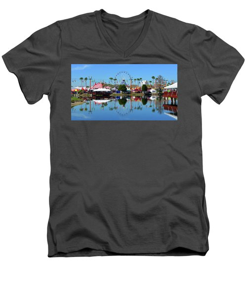 Men's V-Neck T-Shirt featuring the photograph Florida State Fair 2017 by David Lee Thompson