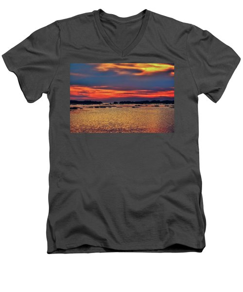 Men's V-Neck T-Shirt featuring the photograph Florida West Coast  by Louis Ferreira