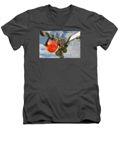 Men's V-Neck T-Shirt featuring the photograph Flotsam And Jetsam by Brian Roscorla
