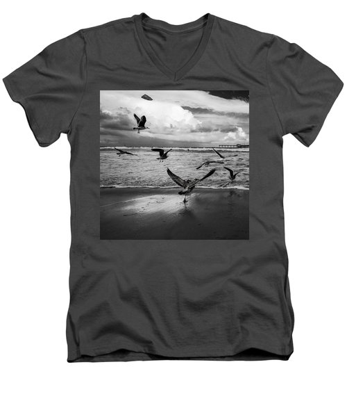 Men's V-Neck T-Shirt featuring the photograph Flow by Ryan Weddle