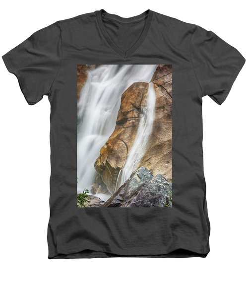 Men's V-Neck T-Shirt featuring the photograph Flow by Stephen Stookey