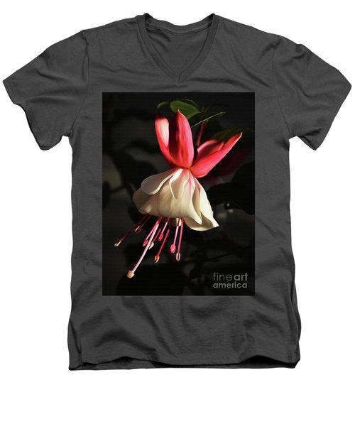 Flower 0021-a Men's V-Neck T-Shirt