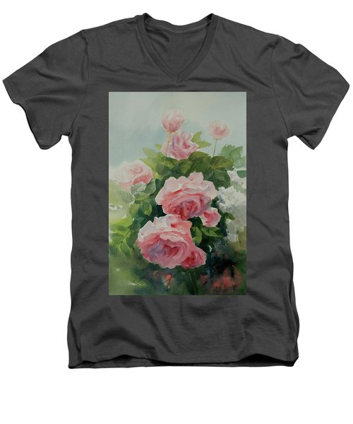Flower 11 Men's V-Neck T-Shirt by Helal Uddin