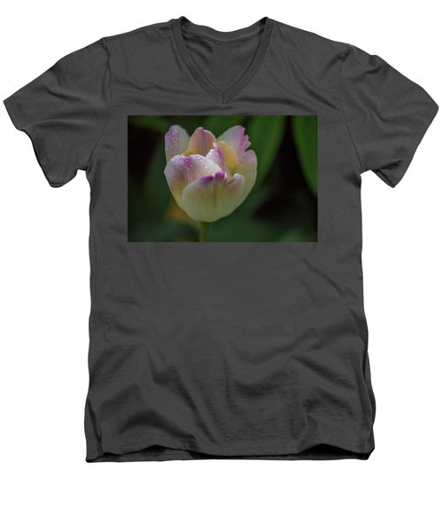 Men's V-Neck T-Shirt featuring the photograph Flower 654853 by Timothy Latta