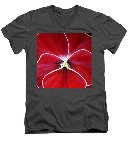 Flower Abstract 3 Men's V-Neck T-Shirt