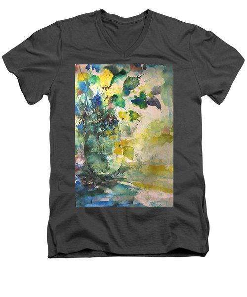 Flower And Vase Stilllife  Men's V-Neck T-Shirt