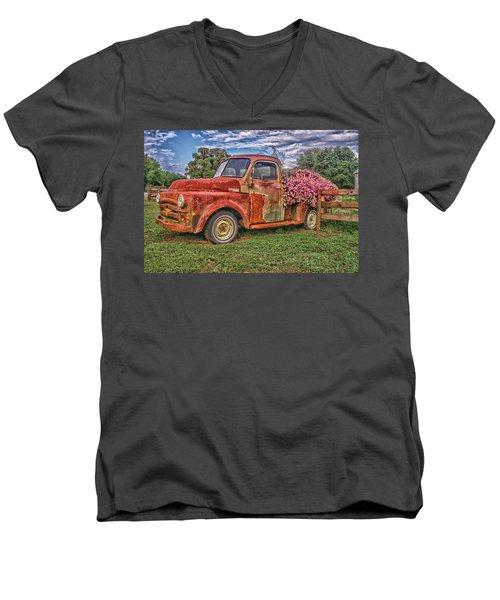 Dodge Flower Bed Men's V-Neck T-Shirt