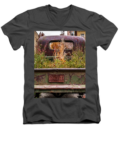 Flower Bed - Nature And Machine Men's V-Neck T-Shirt
