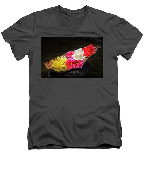 Flower Boat Men's V-Neck T-Shirt